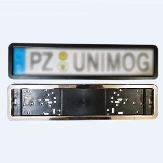 1 Pc Stainless Steel Car License Plate Frame European German Russian 8 Security Pins Car License Plate Frame Number Plate Holder