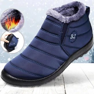 Women Snow Boots Shoes Keep Warm Plush Inside Anti Skid Bottom Waterproof Boots Women Winter Boots Solid Color Snow Boots