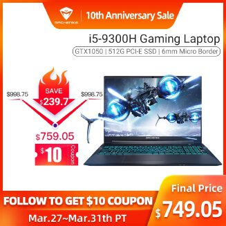 Machenike T58-VA GTX1050 Gaming Laptop (i5-9300H+GTX 1050/8GB RAM/512G SSD/15.6'' ) игровой ноутбук gaming notebook In stock